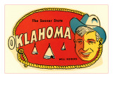 Sooner State, Will Rogers, Oklahoma Posters