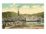 Riverboat Landing at Coney, Cincinnati, Ohio Posters