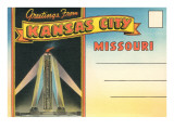 Postcard Folder, Greetings from Kansas City, Missouri Prints