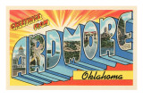 Greetings from Ardmore, Oklahoma Poster