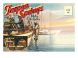 Postcard Folder, Tarpon Springs, Florida Prints