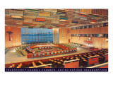United Nations Trusteeship Council Chamber, New York City Prints