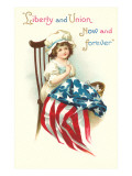 Liberty and Union, Young Betsy Ross Art