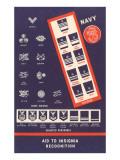 Naval Insignia Chart Kunstdrucke