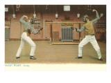 Fencing, West Point, New York Premium Giclee-trykk