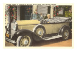 Franklin Roosevelt in Vintage Car, Warm Springs, Georgia Posters