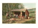 Open Camp, Adirondacks, New York Posters