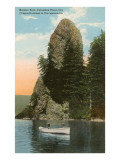 Rooster Rock, Columbia River, Oregon Print