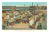 Wallabout Market, Brooklyn, New York Print