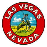 Las Vegas Logo with Bucking Bronco, Nevada Posters