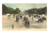 Early View of Champs Elysees Prints