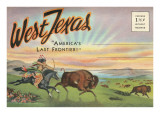 Postcard Folder, West Texas, America's Last Frontier Art