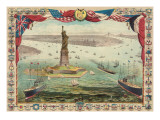 Vintage View of Statue of Liberty Prints