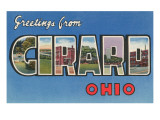 Greetings from Girard, Ohio Posters