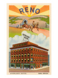 Hotel Overland, Reno, Nevada Lámina giclée premium