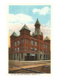 City Hall and Fire Station, Corning, New York Prints