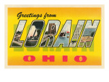 Greetings from Loran, Ohio Print