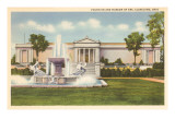 Fountain and Art Museum, Cleveland, Ohio Posters