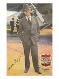 Will Rogers, Standing by Plane Prints