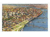 Aerial View of Portland, Oregon Affiches
