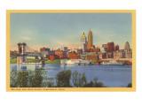 Skyline and Ohio River, Cincinnati, Ohio Kunstdrucke