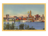 Skyline and Ohio River, Cincinnati, Ohio Prints