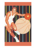 Basketball Player Dribbling Posters