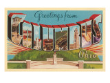 Greetings from Columbus, Ohio Prints