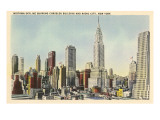 Midtown Skyline and Radio City, New York City Prints