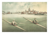 Single-Person Rowing Prints
