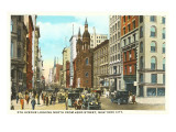 Fifth Avenue, 42nd Street, New York City Print