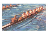 Eight-Man Rowing Poster
