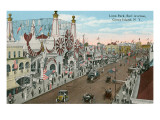 Luna Park, Coney Island, New York Print