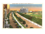 Eastern Parkway and Brooklyn Museum, New York City Poster