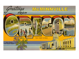 Greetings from McMinnville, Oregon Poster