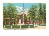 Barry Statue, Independence Hall, Philadelphia, Pennsylvania Posters