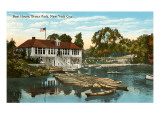 Boat House, Bronx Park, New York City Prints