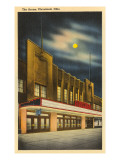 Moon over the Arena, Cleveland, Ohio Prints