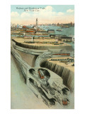 Hudson and Manhattan Tube, New York City Prints