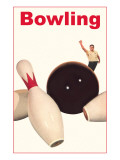 Bowling Ball and Pins Prints