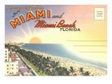 はがきフォルダ, マイアミ, フロリダ州 ポスター