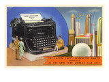 14-Ton Typewriter, New York World's Fair, 1939 Poster