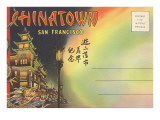Postcard Folder, Chinatown, San Francisco, California Prints