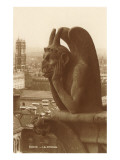 Gargoyle on Notre Dame, Paris Art