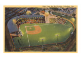 Night View, Red Bird Stadium, Columbus, Ohio Posters