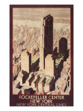 Travel Poster, Rockefeller Center, New York City Prints