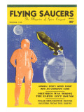 Flying Saucers Magazine Cover Poster