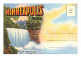 Postcard Folder, Minneapolis, Minnesota Art