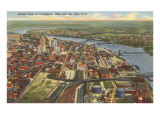 View over Cincinnati, Ohio Prints