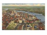 View over Cincinnati, Ohio Prints